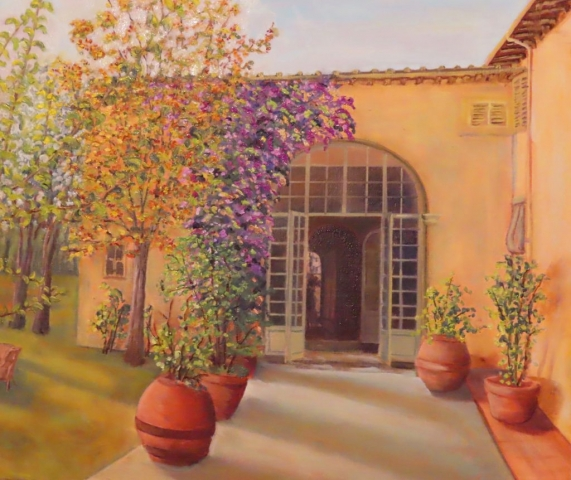 Cindy Parsons Paintings, Fattoria Dianella, 20 x 24, oil, $695