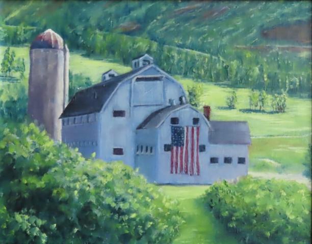 Cindy Parsons Paintings, Park City Barn, 11 x 14, oil $195