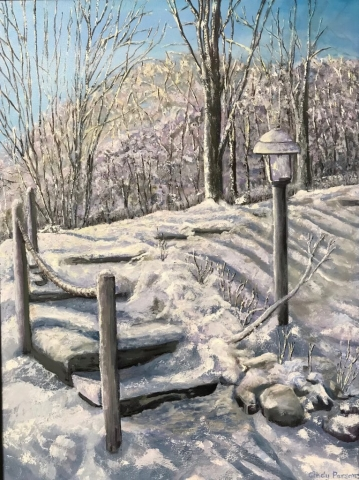 Cindy Parsons Paintings, Long Winter Shadows, 40 x 30 framed, oil, $595