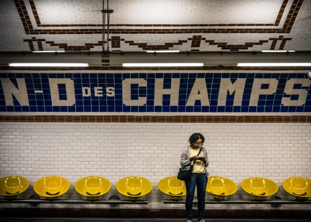 "Arnold Berkman, ""Paris Metro"", Photography, Lawrence Street Gallery"