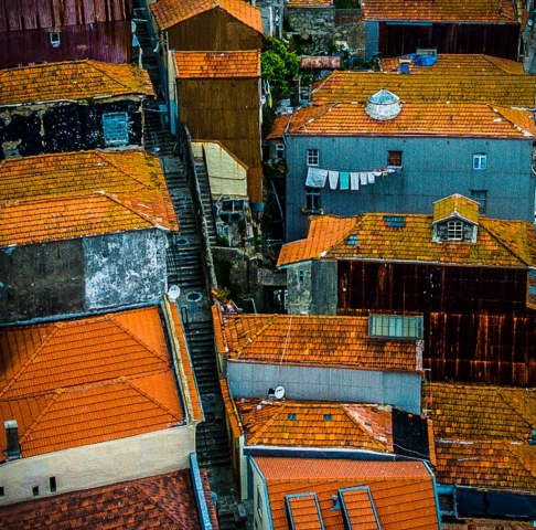 "Arnold Berkman, ""Rooftops-Portugal"", Photography, $100.00"