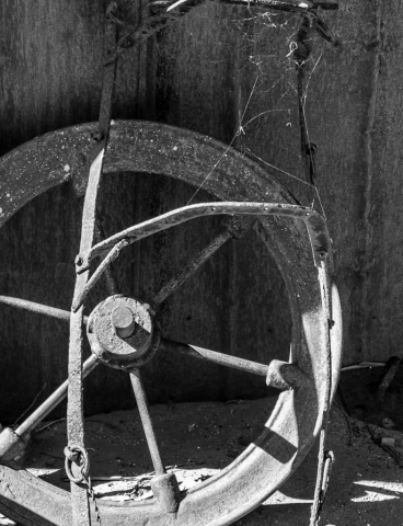 "Arnold Berkman, ""Wagon Wheel"", Photography, $450.00"