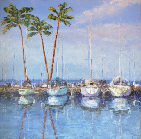 Cindy Parsons, oil painting, come sail away