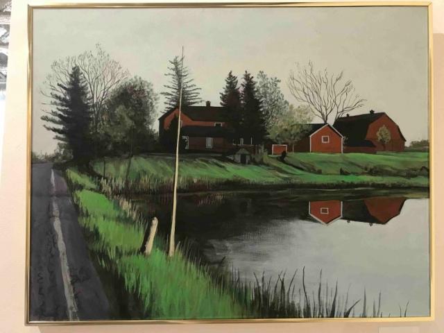Gary Van Gorp, Farm Pond, acrylic, $600