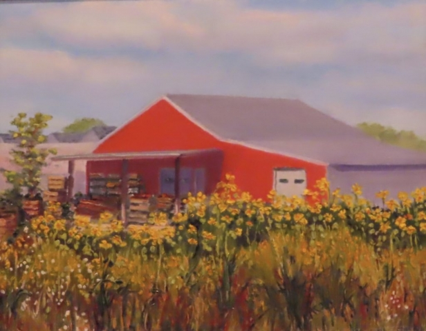 Cindy Parsons Paintings, Farm Market Hastings, 16 x 20, oil, $295