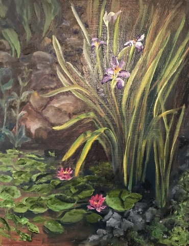 Cindy Parsons Paintings, Water Blossoms, 14 x 11, oil, $195