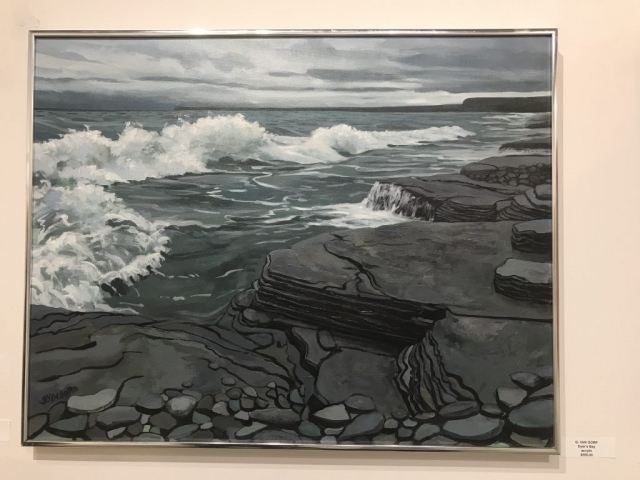 Gary Van Gorp, Dyers Bay, acrylic, $350