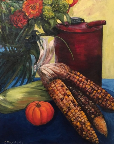 Cindy Parsons, oil painting, Harvest Time