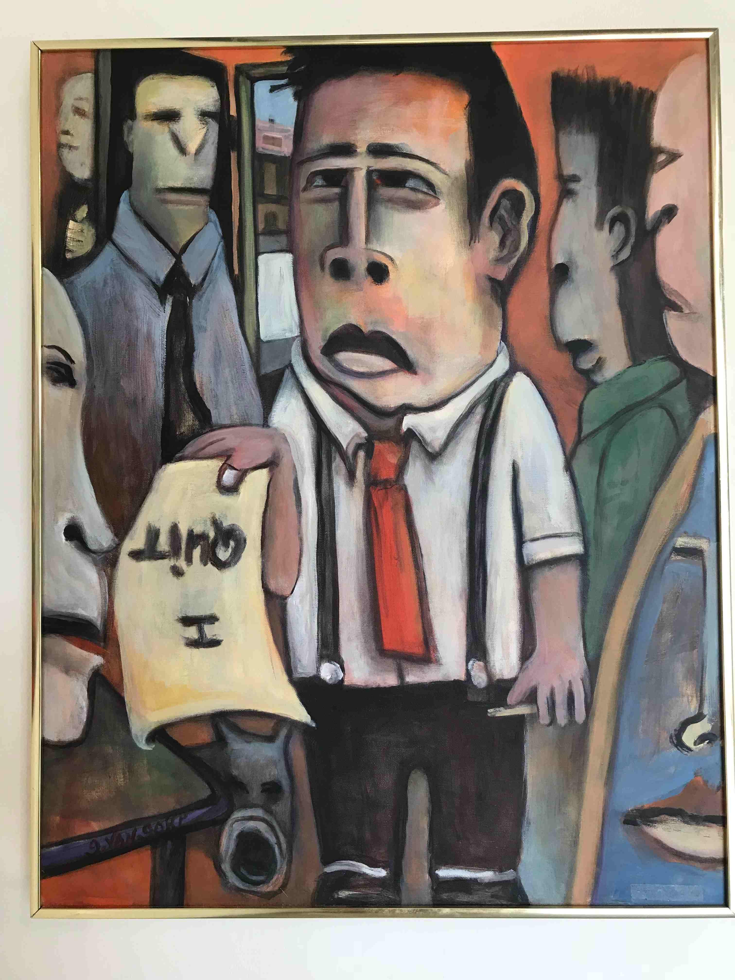 Gary Van Gorp, I Quit, acrylic, $400