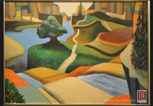 Gary Van Gorp, Criss Cross Canyon, acrylic, $800