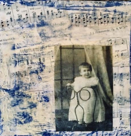 Suzanne Allen, Lullaby, encaustic, $1125