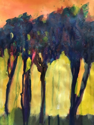 "Suzanne Allen, ""You can't see the forest"", $125, acrylic"