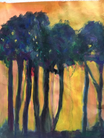 "Suzanne Allen_""For the Trees""_$250, acrylic"