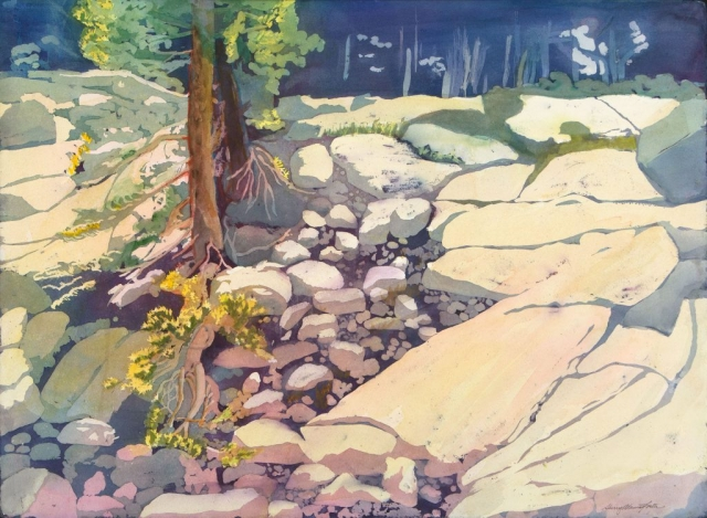 Sherry Adams Foster, Yosemite Afternoon, 34 x 41, watercolor, $450