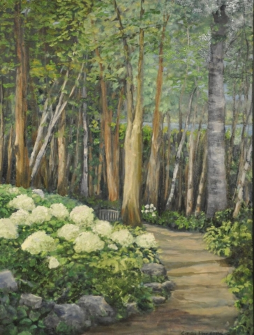 Cindy Parsons Paintings, Memorial Garden, 40 x 30, oil, $595