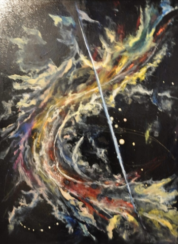 Cindy Parsons Paintings, Night Sabre, 40 x 30. oil, $595