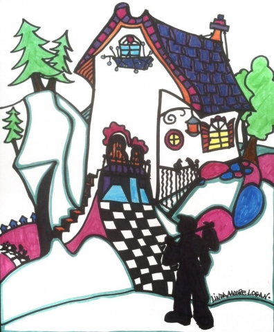 Linda Logan, Coming Home, marker, $85