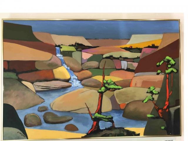 Gary Van Gorp, Mindscape #12, acrylic, $600