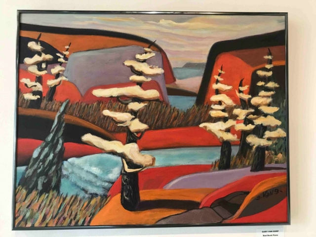 Gary Van Gorp, Red Rock Pines, acrylic, $450