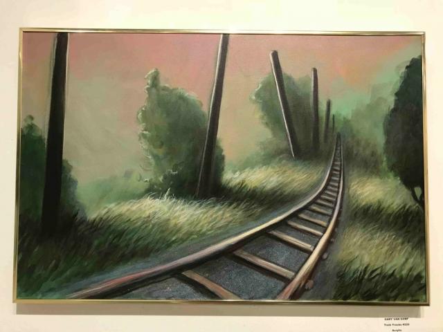 Gary Van Gorp, Train Track #229, acrylic, $300