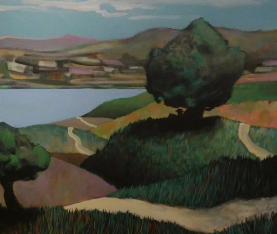 Gary Van Gorp, Siesta, acrylic, $400