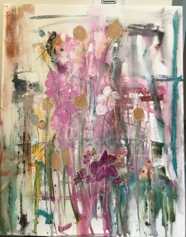 "Deborah Roelofs, ""Lotus Flower"", $145"