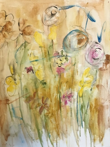 "Deborah Roelofs, ""Meadow in Bloom"", $200"