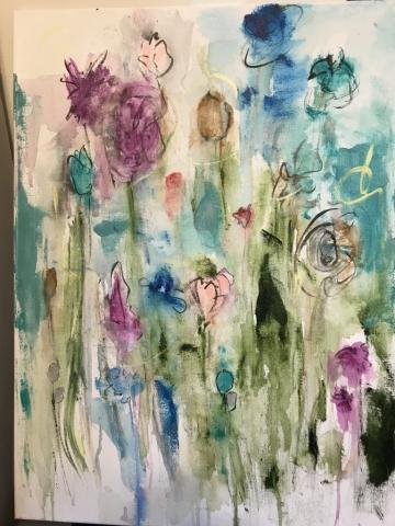 "Deborah Roelofs, ""Mystic Flor"", $200"