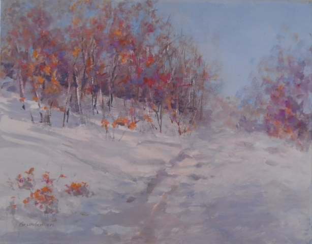 "Barbara Grundeman,""Fall Surprise"", 11""x 14""   acrylic, $200.00"