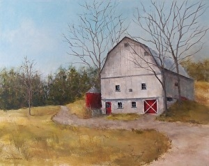 "Barbara Grundeman, ""Barn on Old Mission Peninsula"", $375"