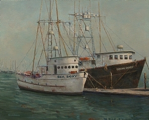 "Barbara Grundeman, ""Sea Doxy and Ocean Gypsy"" $595, acrylic"