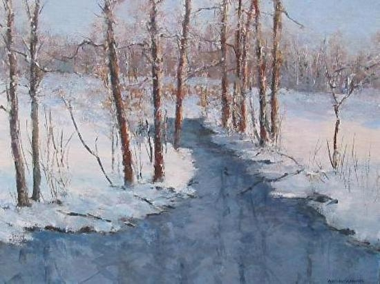 "Barbara Grundeman, ""Winter Wonderland"", $350, acrylic"