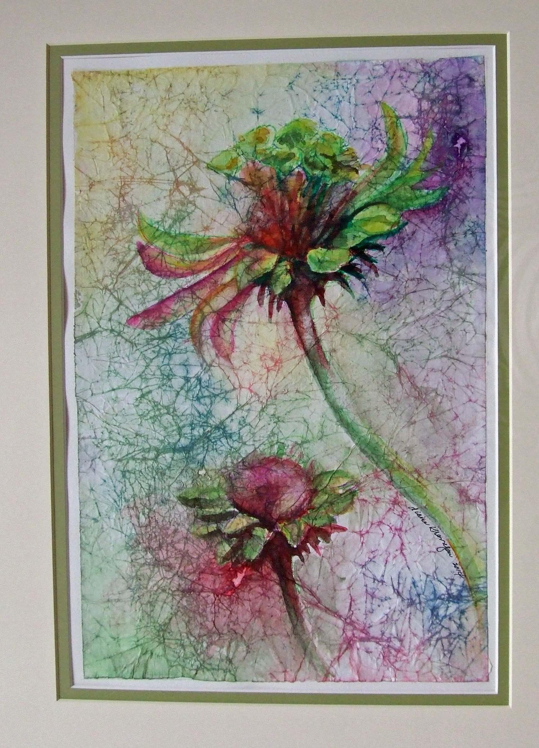 Diane Krempa, Floral Dance, watercolor, 21.5 x27.5, $375