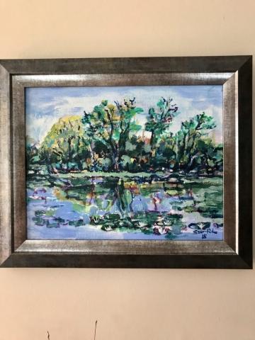 Steve Rubin, Plein Air Painting, acrylic, $150