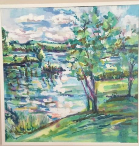 Steve Rubin, Kensington Park, acrylic, $400