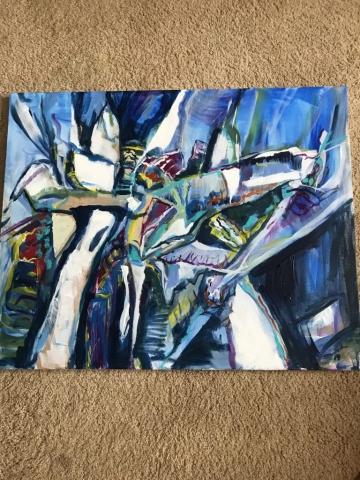 Steve Rubin, K4, acrylic, $425