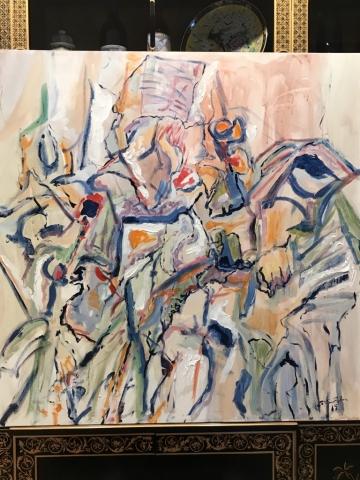 Steve Rubin, K3, acrylic, $500