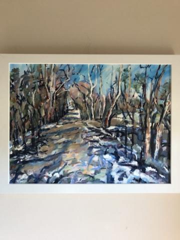 Steve Rubin, Halstead Rd South, acrylic $425