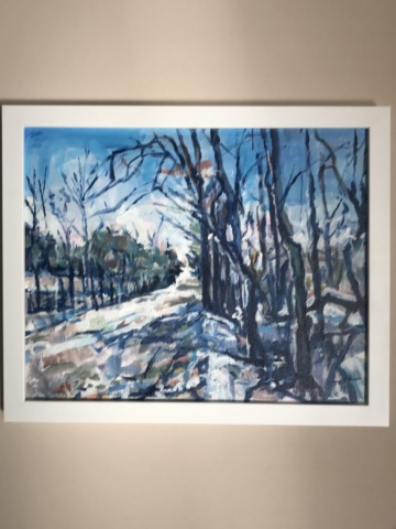 Steve Rubin, Halstead Rd North View, acrylic, $350