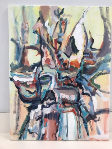 Steve Rubin, K2, acrylic, $300
