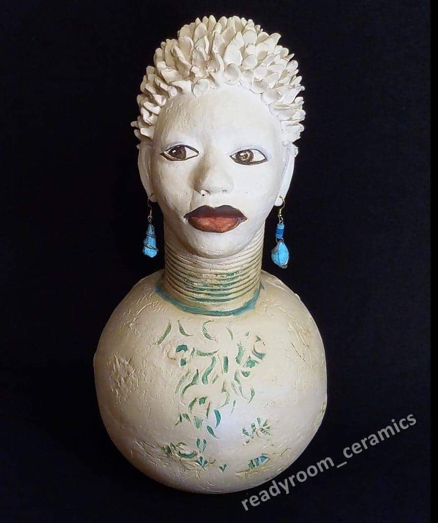 """Patricia Simpson, Side Eye to the Right, 15"""" tall, $350"""