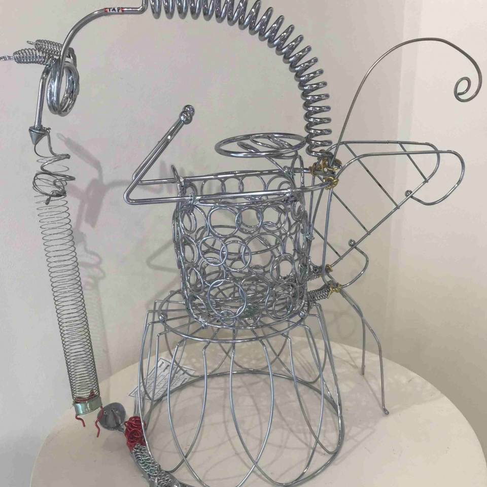 Daren Dundee, Wired, foumd objects, $200