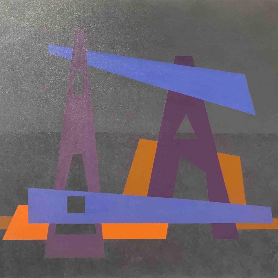 J Mitchell, Compocition 19-1, Acrylic, $900