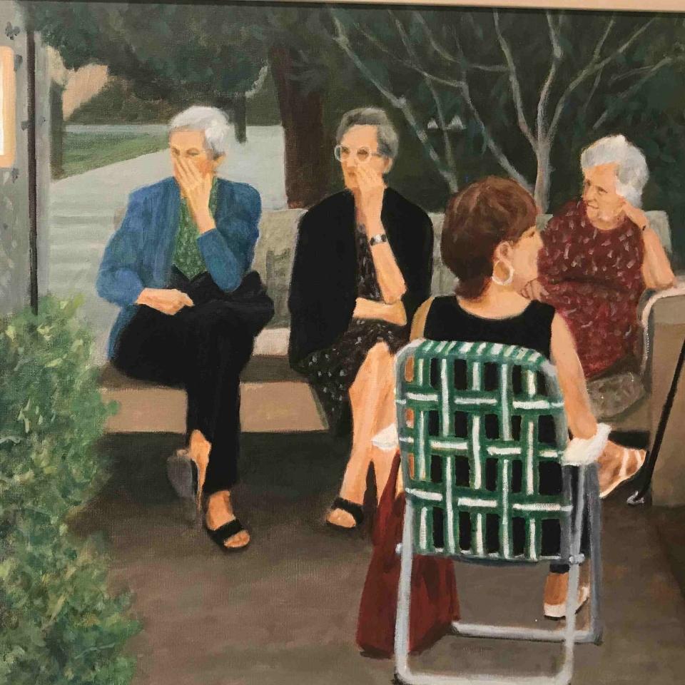Julie Sabit, Italian Ladies, Oil, $350