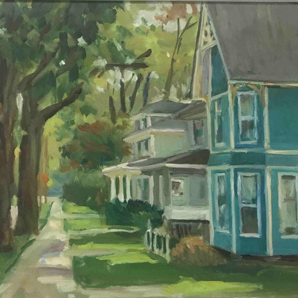 Nancy T Slutsky, Victorian, Oil, $350